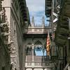 Gothic quarter, Catalonia flag