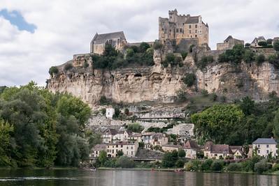 Beynac town and Beynac Castle.