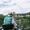 Approaching Beynac Castle on the Dordogne River