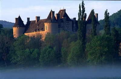 Chateau Montal at dawn without cows