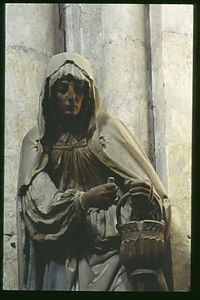 Troyes Lady, Statue of Martha, Eglise Ste Madeleine, Troyes