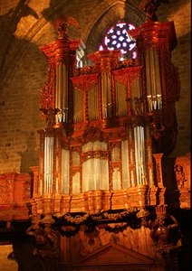 Organ in the abbey church of St Robert in La Chaise-Dieu