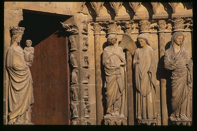 Reims Cathedral Door, Reims, Champagne