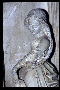 Tomb detail in Brou abbey, Bourg-en-Bresse