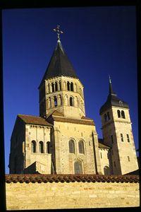 Abbey church at Cluny