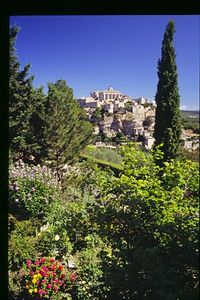 Gordes from a local garden