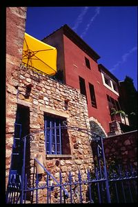 Roussillon's colorful buildings