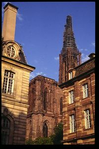 Strasbourg Cathedral with surrounding buildings