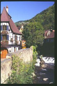 Classic Alsatian view in Kayserberg
