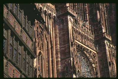 Medieval Facade - Cathedral front and Maison Kammersel on left