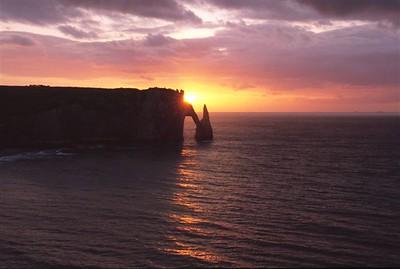 Étretat sunset