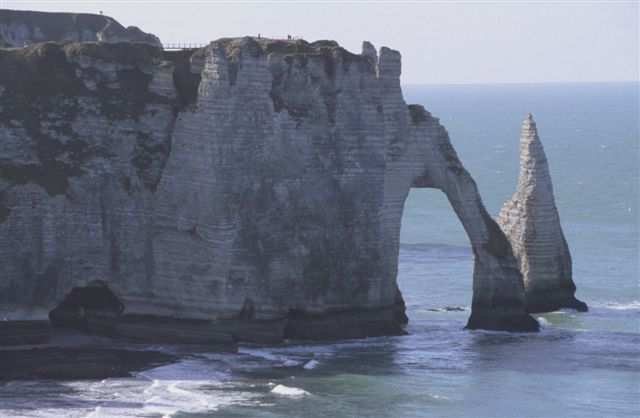 """The """"falaises"""" or chalk cliffs with the famous arch at Étretat looking south(2)"""