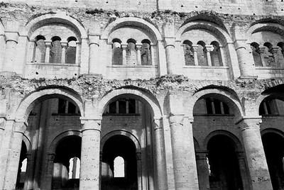 The Benedictine Abbaye de Jumièges ruin (B&W3)