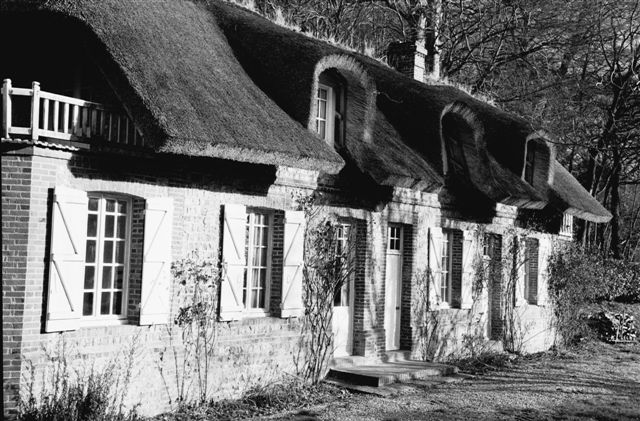 A traditional Norman house near Veules-les-Roses