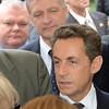 President Sarkozy in the crowd