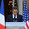 President Sarkozy speaks