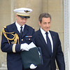President Sarkozy and his attaché (presumably)