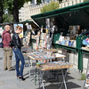 Vendor stalls along the Seine near Notre Dame