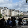 Relaxing by the river near the Pont de la Tournelle