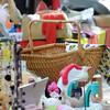 A basket at the sidewalk sale