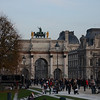 Arc du Carrousel -- the gate between the Louvre and the Tuileries Garden