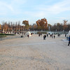 The ramp down to the Tuileries