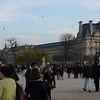 In Tuileries Garden looking toward the Louvre.