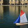Remote controlled boat at Luxembourg Gardens