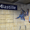Bastille mural at the metro
