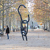 Chain link art at Luxembourg Gardens