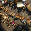 Love Locks on the Passerelle Léopold-Sédar-Senghor bridge across the Seine.