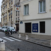 Rue de la Montagne Sainte Geneviève.  The church and steps are on the left (out of the picture); The Bombardier is on the right; and at the end of the street in the left of the picture is the Pantheon.