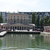 "<a href=""http://www.larotonde.com/en/history"" target=""_blank"">La Rotonde</a> at La Villette Basin"