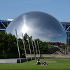 "<a href=""http://en.wikipedia.org/wiki/La_G%C3%A9ode"" target=""_blank"">La Géode</a>, a spherical Omnimax theatre"