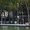People hanging out at La Villette Basin