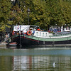 A boat at La Villette Basin