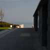 At the American Cemetery Visitor Center looking toward the Atlantic Ocean, over Omaha Beach