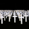 Crosses at the American Cemetery