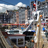 A fishing boat at the marina in Honfleur