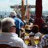 Our view at lunch in Honfleur