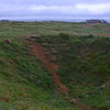 Shell craters at Pointe du Hoc