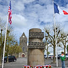 Paratrooper Liberation Monument in front of Eglise Notre-Dame-de-l'Assomption de Sainte-Mere-Eglise