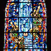 A stained glass window honoring those who, by their courage and sacrifice, liberated Sainte-Mère-Église and France.