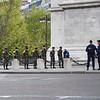 Military at the Arc de Triomphe on Armistice Day