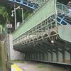 An open swing bridge -- Pont tournant de la Grange-aux-Belles (Photo by Ray)