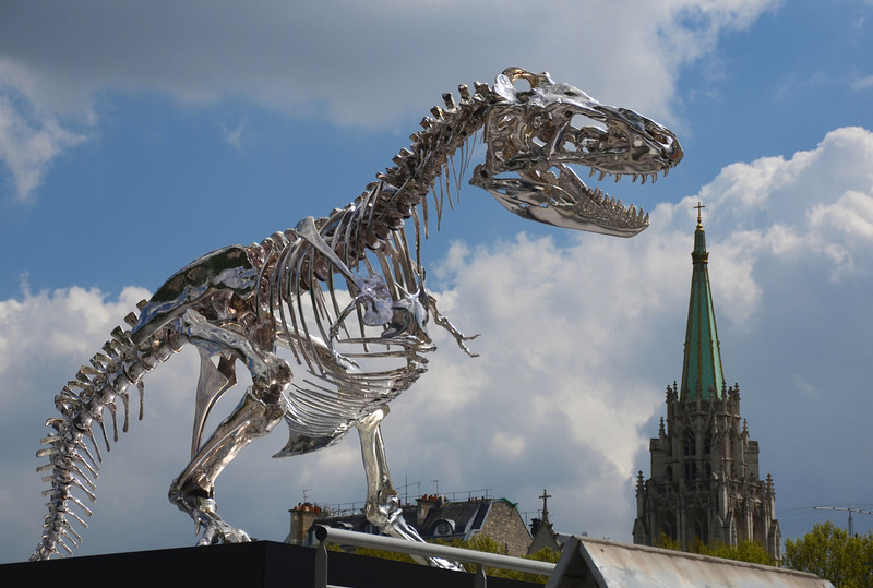 Terminator Rex eats the American Church in Paris!