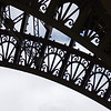 Leg and ironwork of Eiffel Tower