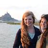 Kat and Clara at Mont Saint-Michel