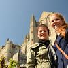 Clara and Kat at Mont Saint-Michel