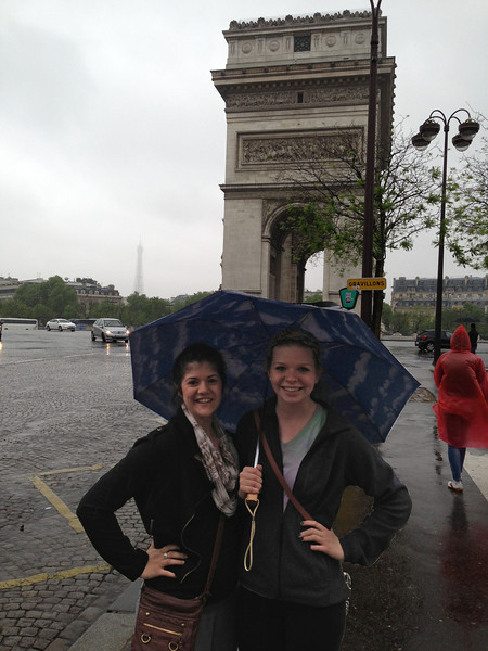 Clara and Kat having just arrived in Paris